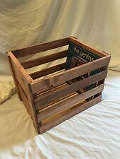 Vinyl Record Storage Wood Crate