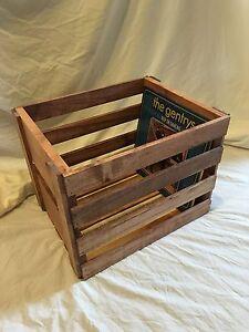Vinyl Record Storage Wood Crate Ebay