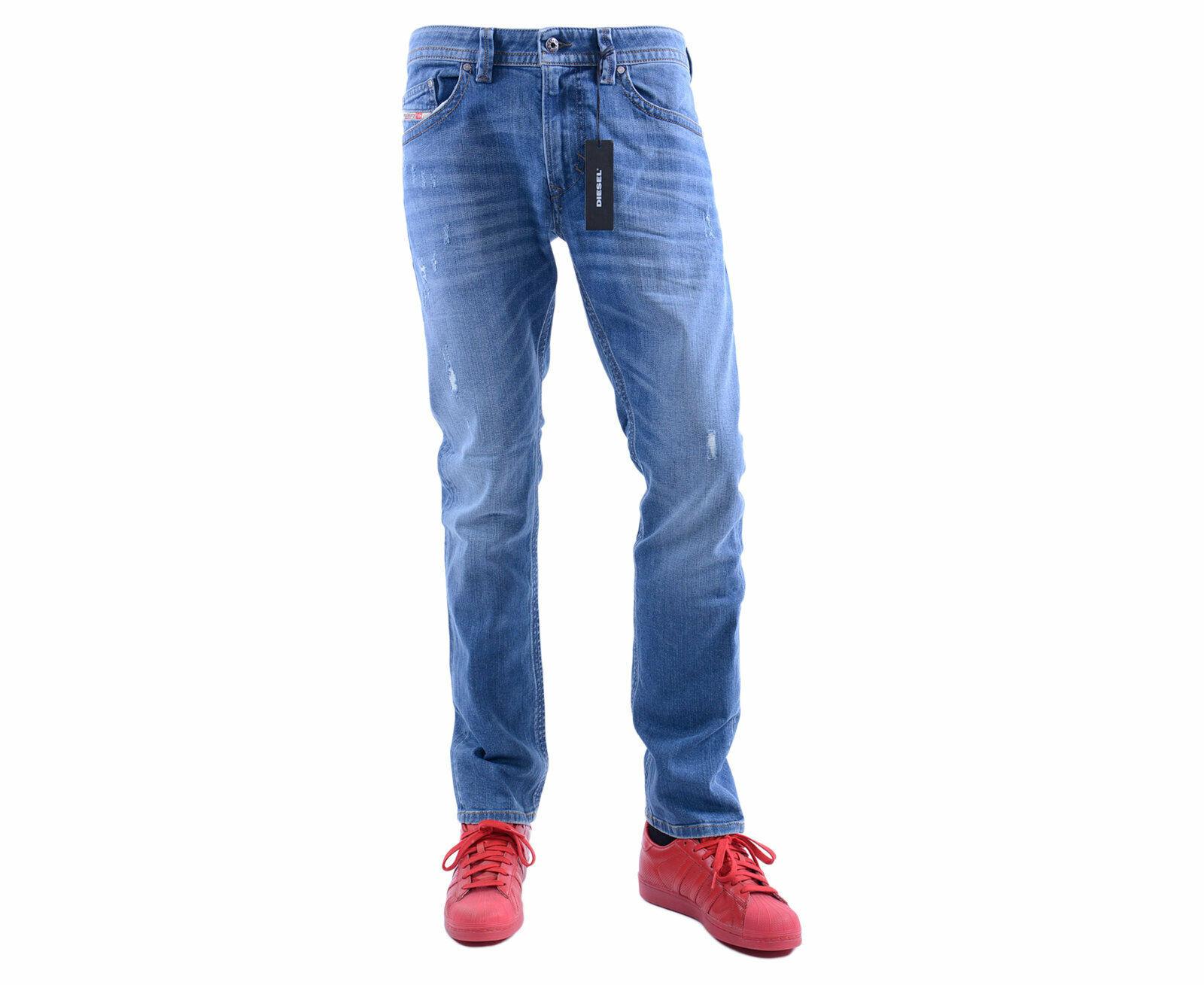 DIESEL THAVAR R8K58 W30 - W33 L30 L32 Mens Denim Jeans Stretch Slim Fit Skinny