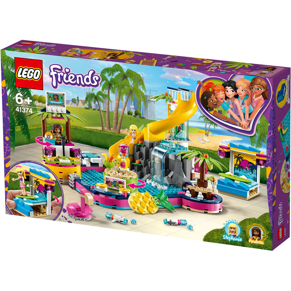 LEGO Friends Andrea's Pool Party Building Set - 41374