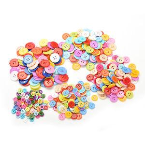 100-Pcs-Mixed-Color-Buttons-4-Holes-Children-039-s-DIY-Crafts-10mm-5-Sizes-amp-h