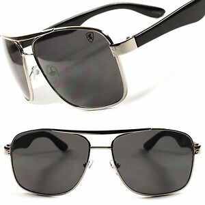 4d232f69f78 Details about Classic Vintage Retro 80's Old Fashion Mens Womens Square  Silver Sunglasses C58