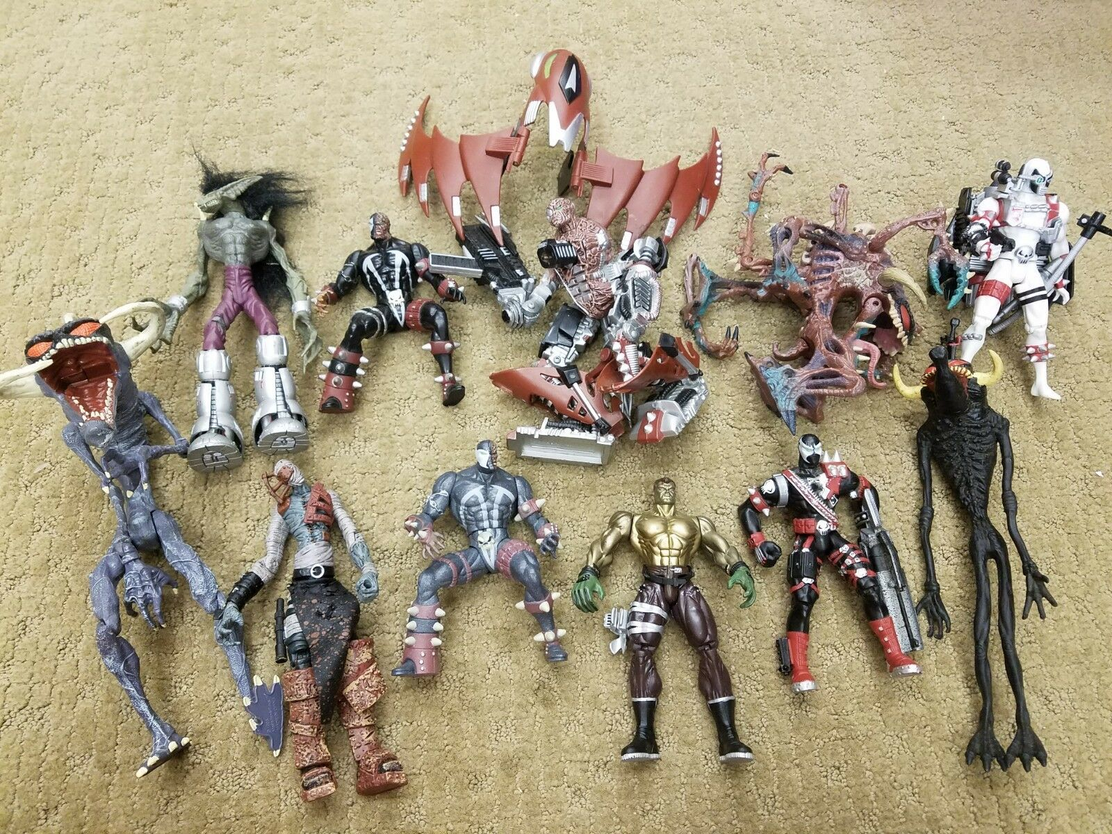 McFarlane Spawn Set of 12 Figures LOOSE