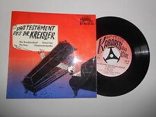 "7"" Comedy Georg Kreisler - D Testament d Dr. Kreisler (4 Song) KABRETT AUS WIEN"