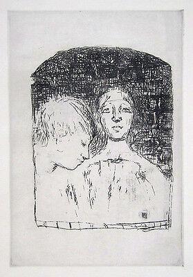 """PIERRE BONNARD Original Vintage 1930 Etching from """"Sainte Monique"""""""