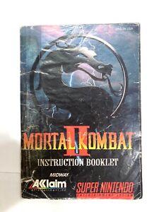 MORTAL KOMBAT II 2 Super Nintendo SNES Original Instruction Manual Booklet Book