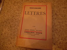 1931.Lettres choisies.Nietzsche