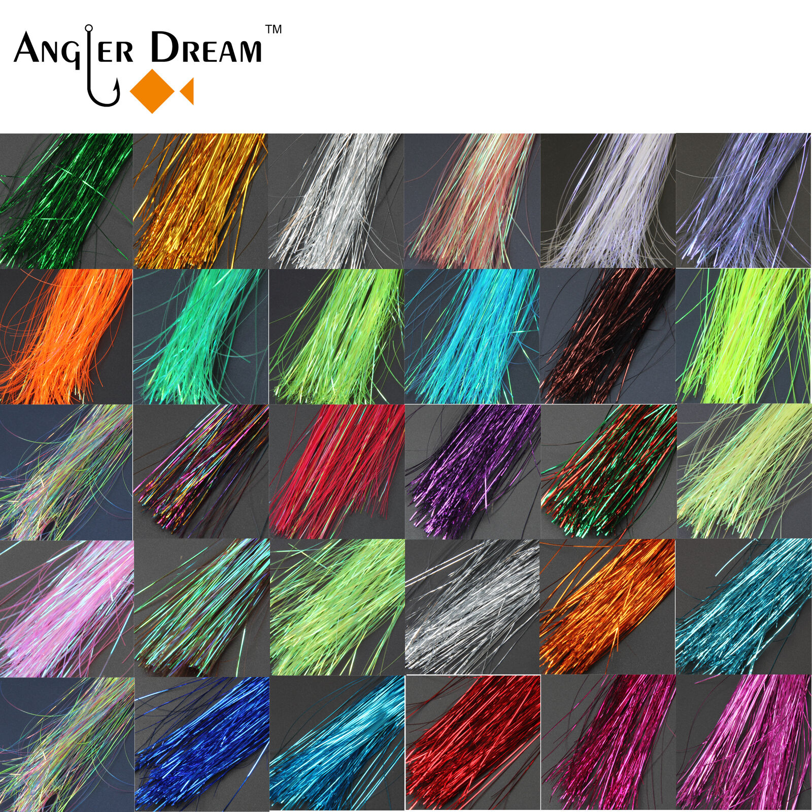 200bags  Fly Tying Materials Crystal Flashabou Lure Making Fly Fishing Lures  online outlet sale