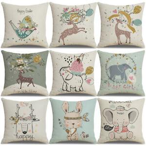 Am-KF-Easter-Day-Egg-Rabbit-Bunny-Home-Decor-Cotton-Linen-Pillow-Case-Cushion