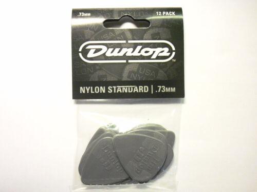 12 Dunlop Nylon Picks Plektren 0,73 mm Plektrum Hang Bag