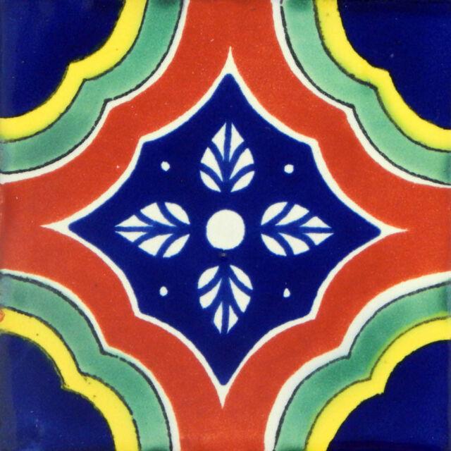 50 Mexican Talavera Decorative Handmade Tiles Folk Art  C041