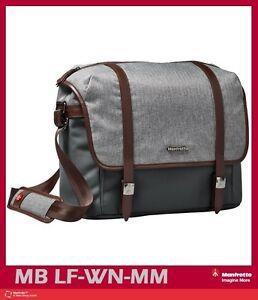 40152406a65b Image is loading Manfrotto-Windsor-Camera-Messenger-Bag-Medium-Gray-Mfr-