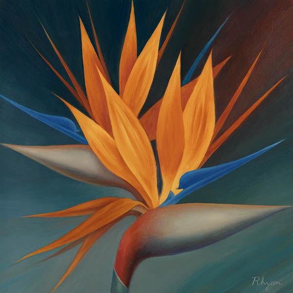 Vivian Rhyan Bird of Paradise II Keilrahmen-Bild Leinwand Strelitzie Blüte Blaume
