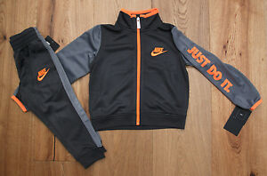 cc56b983f Nike Baby Boy 2 Piece Jogging Set ~ Tracksuit ~ Gray & Orange ~ Just ...