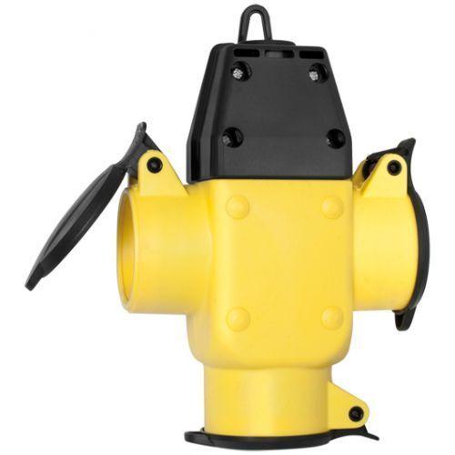 Hängekupplung 3-fach gelb // schwarz Kupplung Adapter IP44