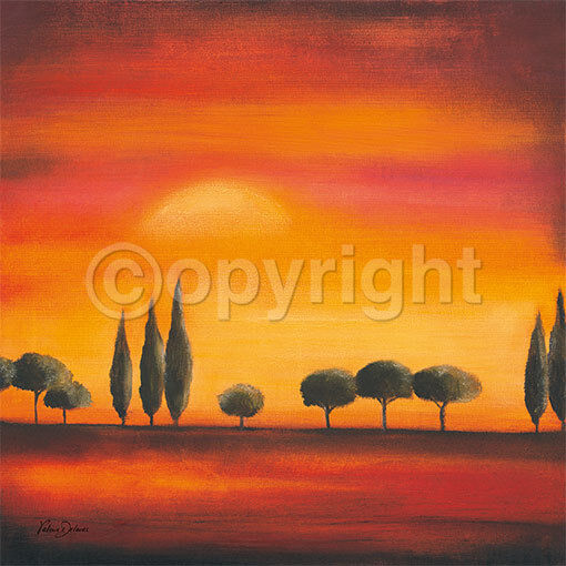 Valerie Delmas  Peaceful Evening Fertig-Bild 70x70 Wandbild