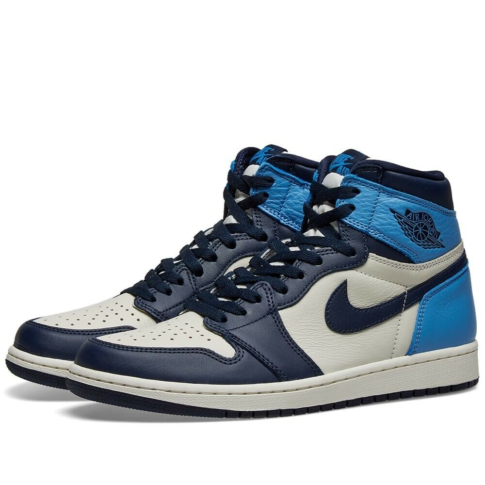Nike Air Jordan 1 Retro High Og Patent Unc Blue Chill Aj1 Uk 5 5