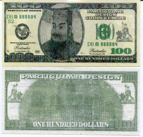 """HEAVEN HELL BANKNOTE 100 DOLLARS $100 BIILL /""""FUNERAL CEREMONY/"""" LOT 5 PCS"""