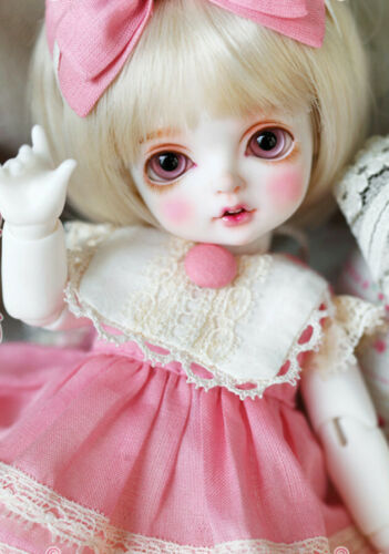 1//8 BJD//SD Dolls RL Bambi Cute Girl Fat Baby Doll Ball-Jointed Doll Free Face Up