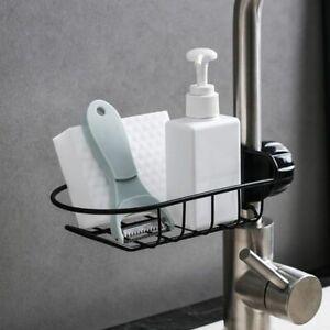 Kitchen-Sink-Faucet-Sponge-Soap-Cloth-Drain-Rack-Organizer-Storage-Shelf-Holder