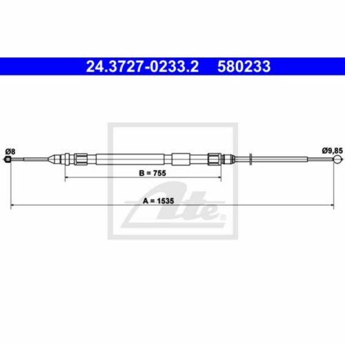 frein de stationnement UAT 24.3727-0233.2 Commande à câble