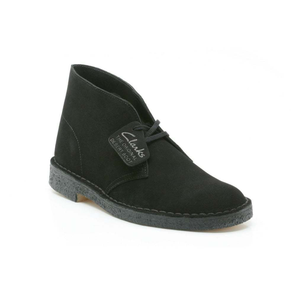 Clarks Mens Desert Boot - Black (Suede) Mens Boots