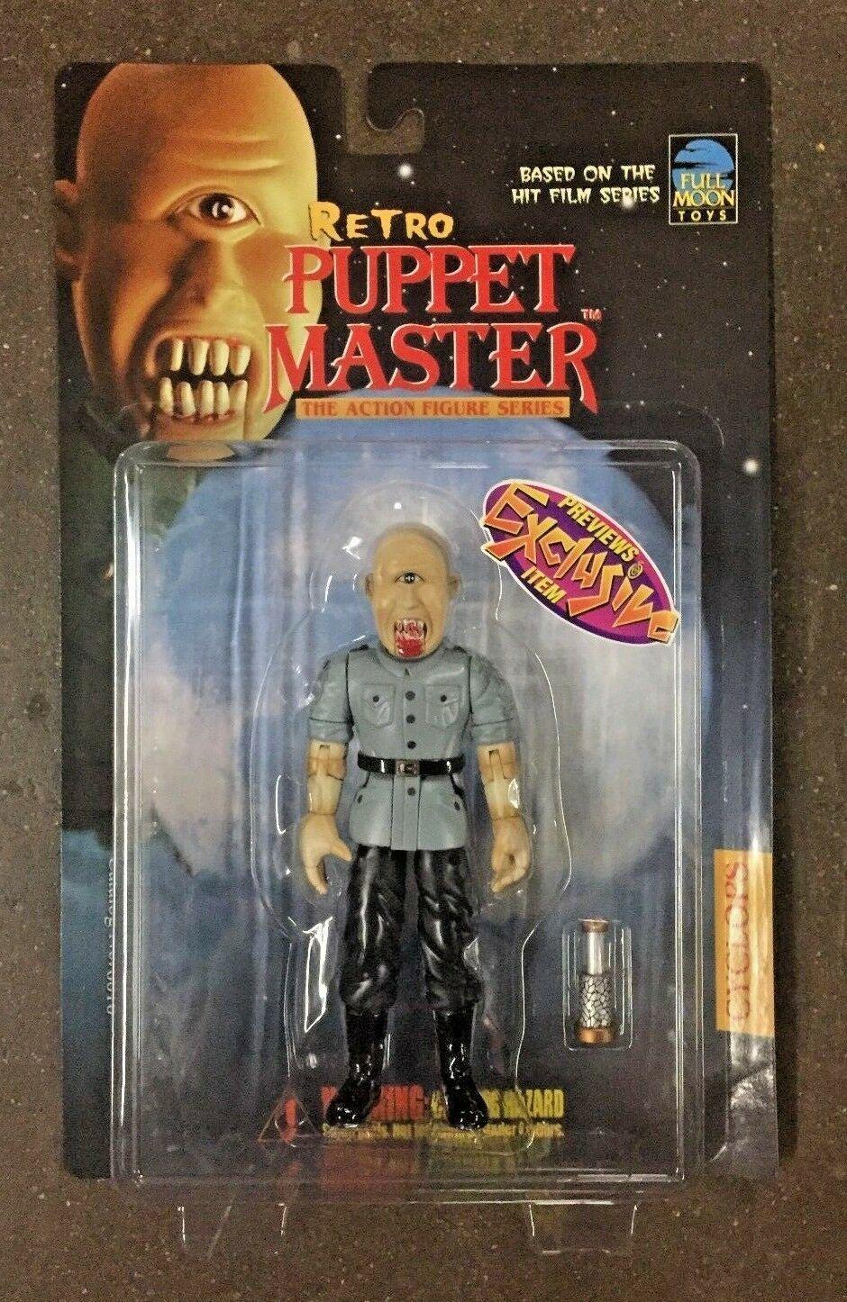 Full Moon Juguetes 1999 Retro Puppet Master vistas previas Exc Blade & Cíclope figura Set