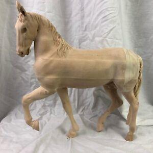 Cavallo-Horse-Re-Magi-Legno-Krippen-34-Cm-Orientali-Animali-Presepe