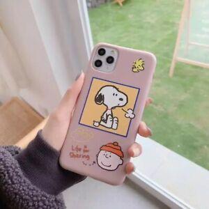 Iphone Xr Case Cute Brown Cartoon Snoopy Charlie Brown Aesthetic Phone Case Ebay