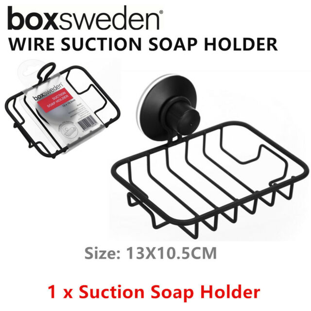 Strong Suction Wall Soap Holder Metal Wire Container Hanger Dish Shower Bathroom