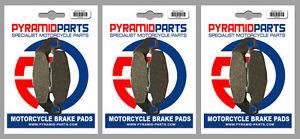 Front & Rear Brake Pads (3 Pairs) for Kawasaki ZX-4 400 88-89