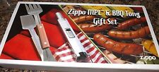 (NIB) ZIPPO MPL and BBQ Tong Gift Set (Advertising Gift from Boda Plumbing)