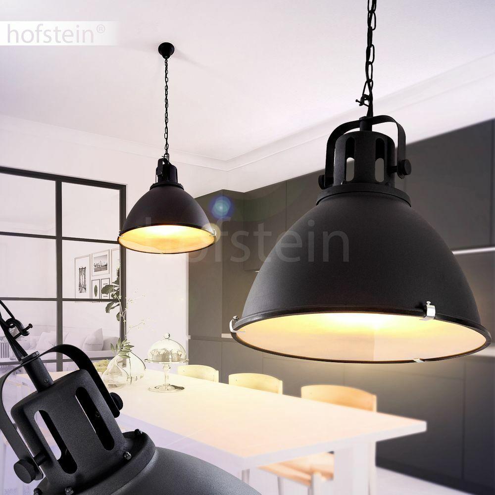 Vintage Pendel Lampen Hänge Leuchten Ess Wohn Schlaf Zimmer Beleuchtung schwarz