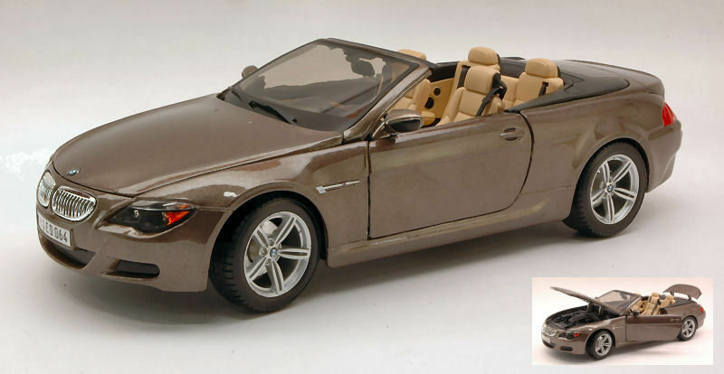 Bmw M6 Cabrio 2007 Metallic Bronze 1 18 Model MAISTO