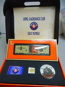 Lionel Railroad Club Gold Membership Kit W3 Packing Of Nominated Brand new Lnl 19991 Car Year 2000