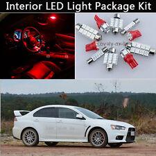 7PCS RED LED Interior Car Lights Package kit Fit 2007-2014 Mitsubishi Lancer J1