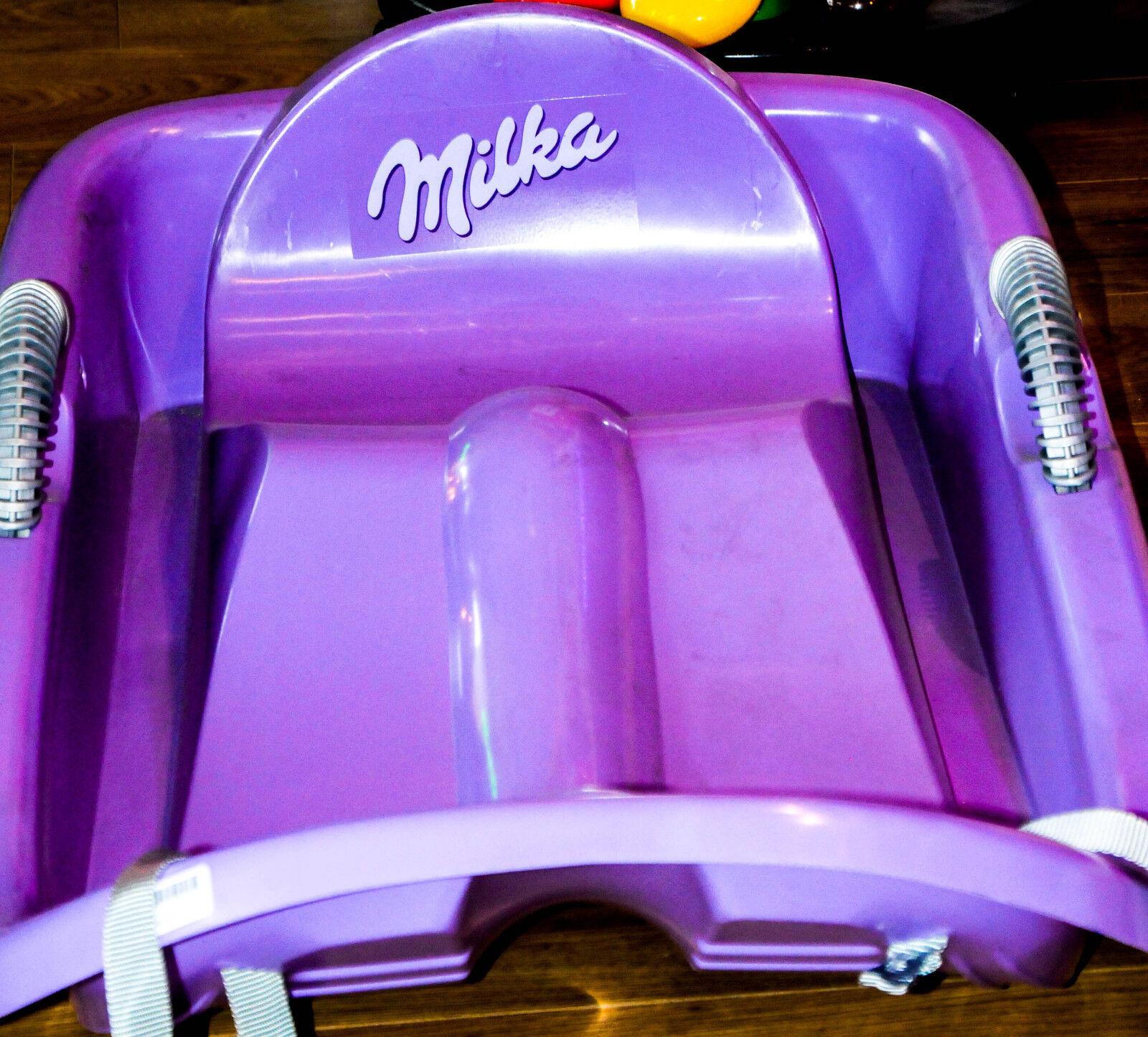 Milka Schokolade Speed - Schlitten mit Lenkung aus Kunststoff