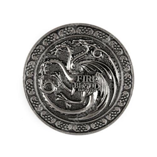 Game of Thrones House Targaryen Fire and Blood Metall Gürtelschnalle TZ4