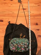 Mary Frances colorful beaded Bag Handbag Purse w/pouch New