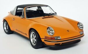 KK 1/18 Scale - Porsche 911 Singer Targa Orange 964 930 Diecast Model Car