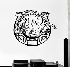 Vinyl Decal Unicorn Horseshoe Luck Talisman Amulet Wall Stickers Mural (079ig)