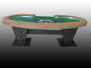Image Is Loading Custom Poker Table Kidney Bean Shape