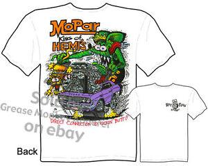 Mopar Clothing Ratfink T Shirts Dodge T Shirt Hemi T Shirts King Of HEMI'S Tee
