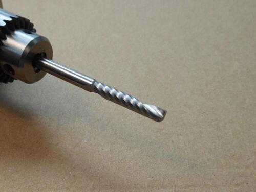 "10pcs 3.175mm 1//8/"" Single Flute Carbite spiral End Mill Cutter CNC Bit 25mm CEL"