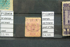 STAMPS-OLD-FINLAND-YVERT-N-18a-USED-F120455