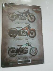 Metal Sign Motorcycle Garage Bike