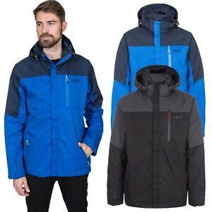 DLX-Danson-Mens-DLX-Waterproof-Jacket-in-Black-amp-Blue-Rain-Coat-With-Hood