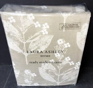 Laura-Ashley-Curtains-Chiltern-Natural-88-034-X-90-034-Long-223cm-X-229-New-Huge
