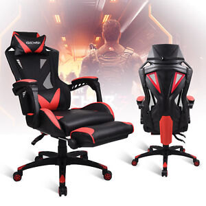 Ergonomic Mesh Back Racing Gaming Chair Office Computer Desk Sports Recliner Red 710535518740