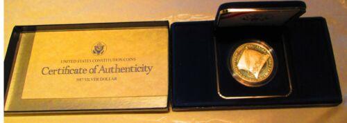 1987 Constitution Commemorative Silver Dollar Proof U.S Mint with Box /&  COA